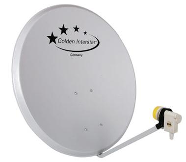 Офсетная антенна с установленным конвертором